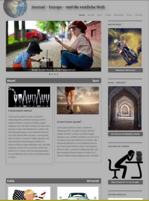 Magazin-webseite